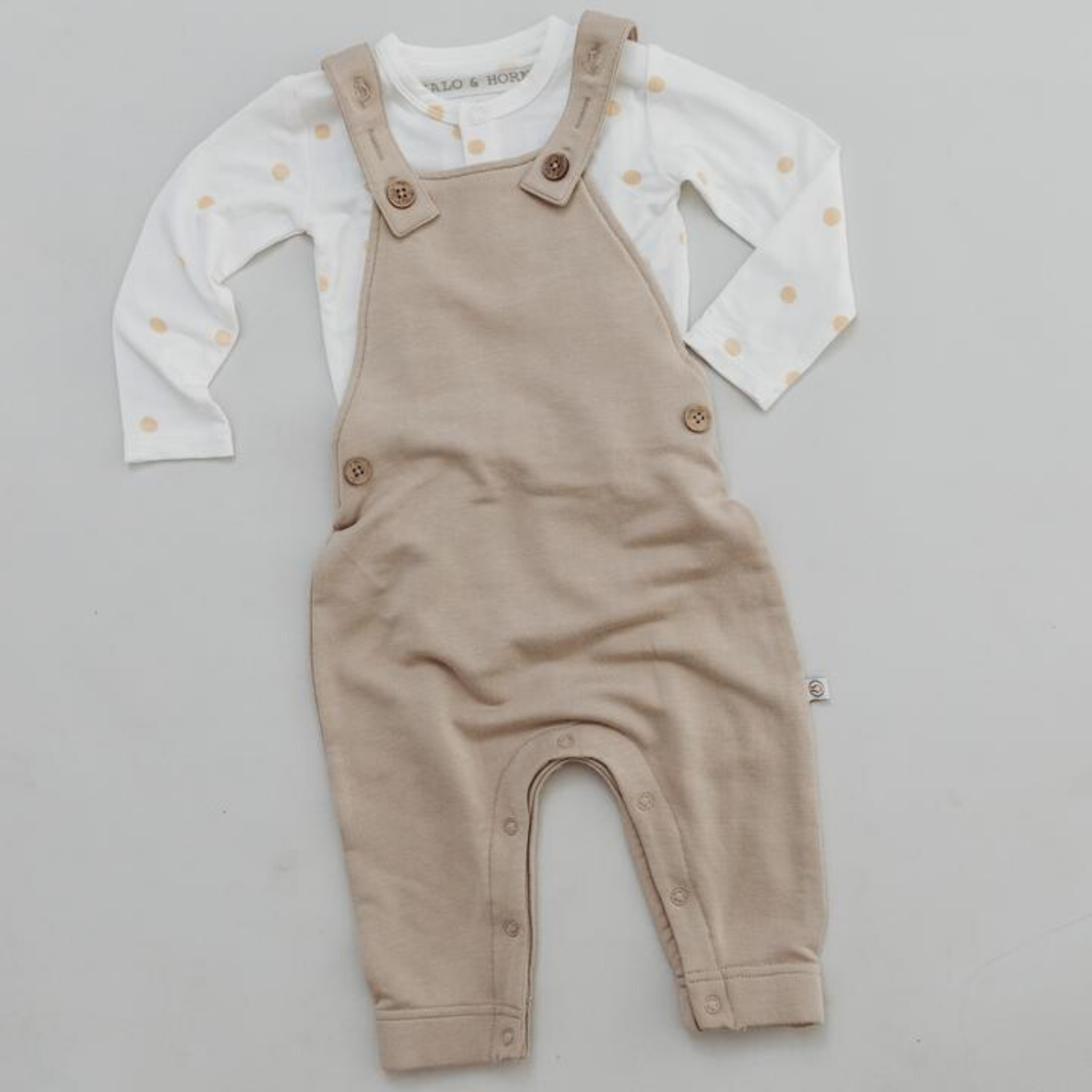 HALO & HORNS - Scout Overalls Bamboo French Terry | Fawn