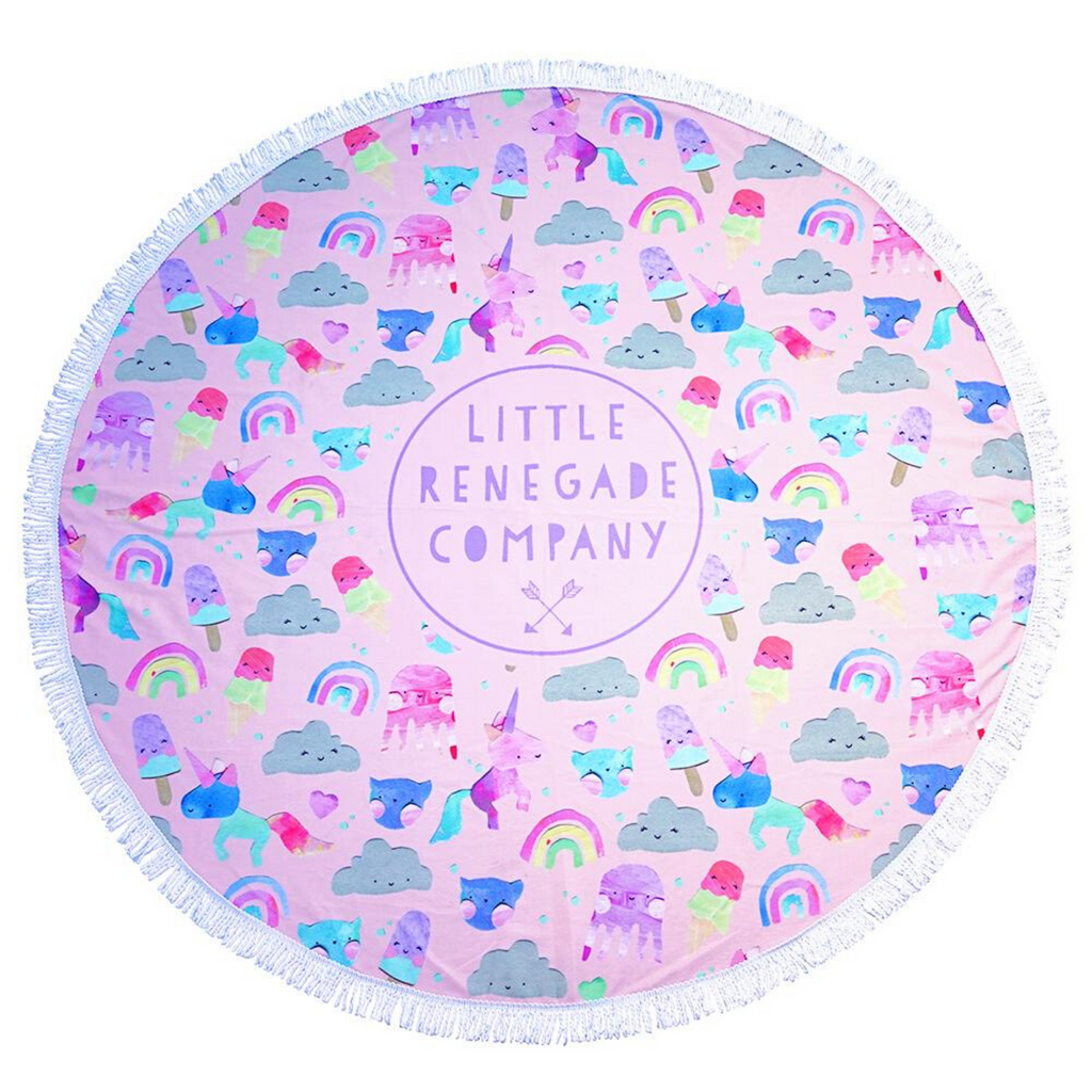 LITTLE RENEGADE COMPANY - Unicorn Friends Round Towel
