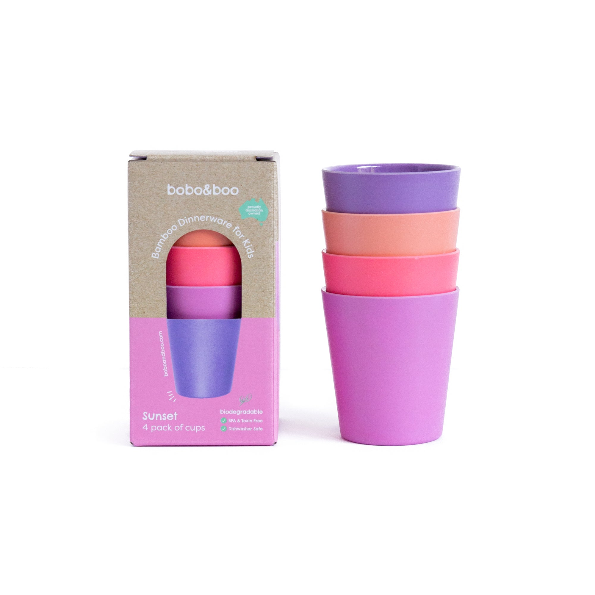 BOBO & BOO - Sunset Bamboo Cup Set