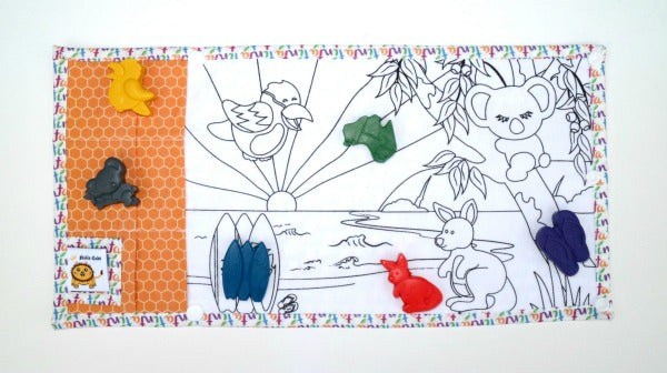 TINTA CRAYONS - Bush & Beach Colouring Mat