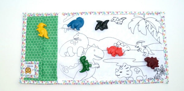 TINTA CRAYONS - Dino Mountain Colouring Mat