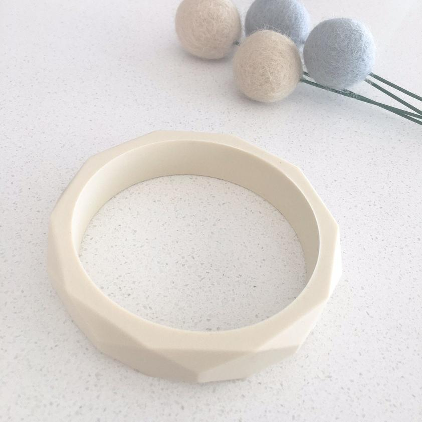 ONE CHEW THREE - GEO Silicone Teething Bangle