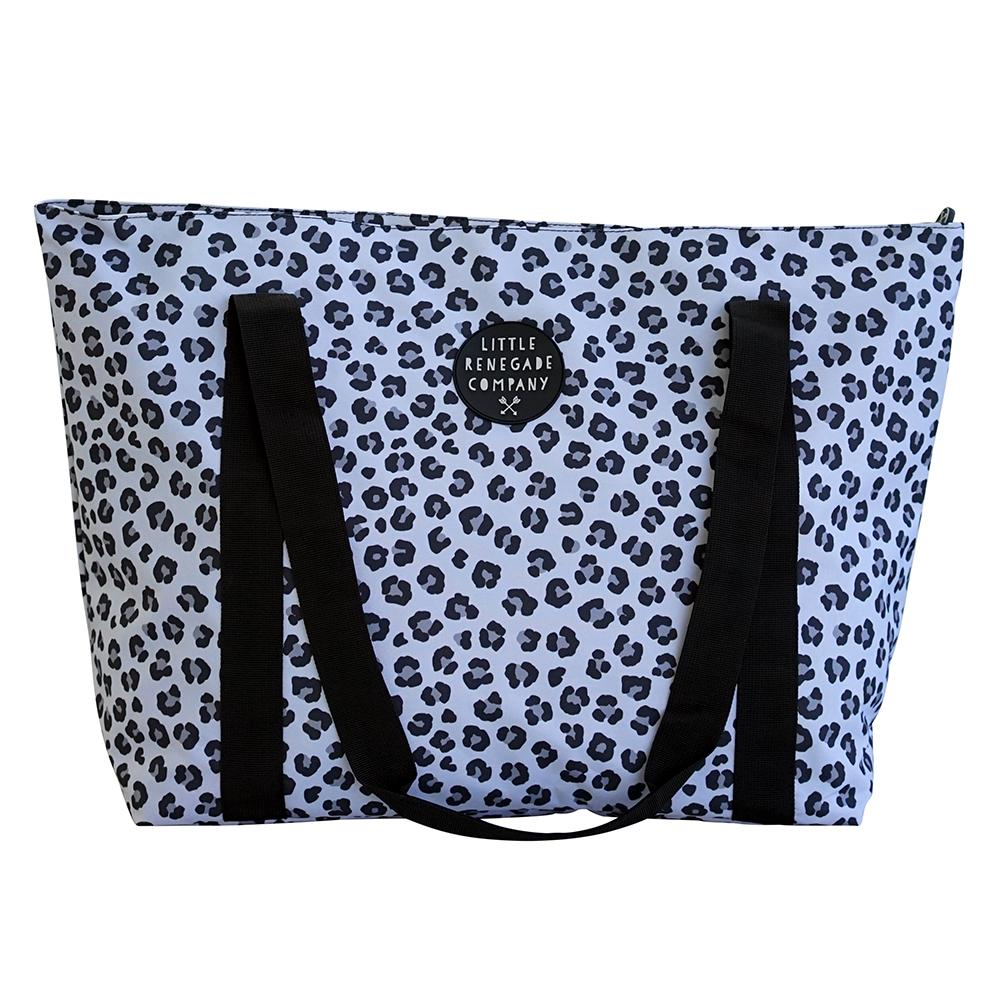 LITTLE RENEGADE COMPANY - Snow Leopard Large Tote Bag