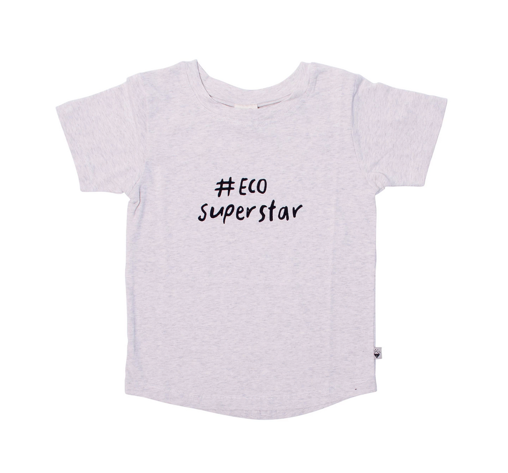MILK & MASUKI - Grey #ecosuperstar tee