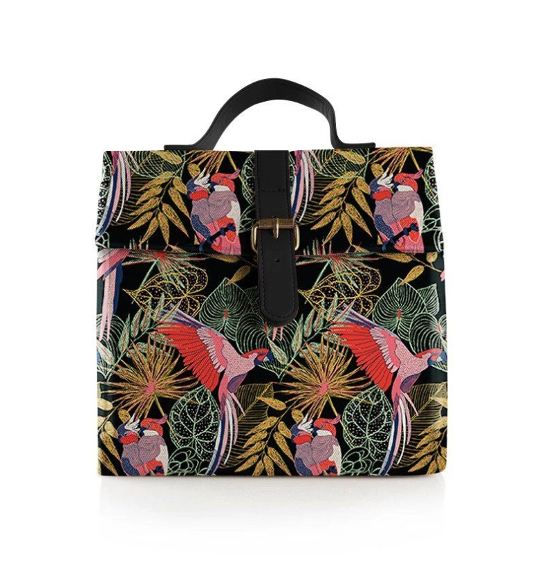 THE SOMEWHERE CO. - Tropical Birds Large Lunch Bag