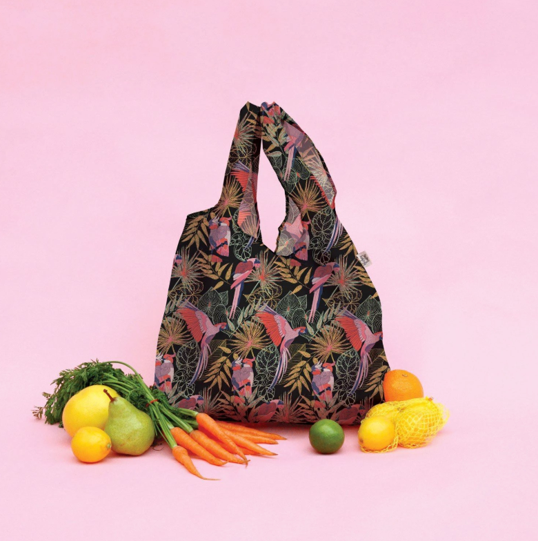 THE SOMEWHERE CO. - Tropical Birds Reusable Shopping Bag