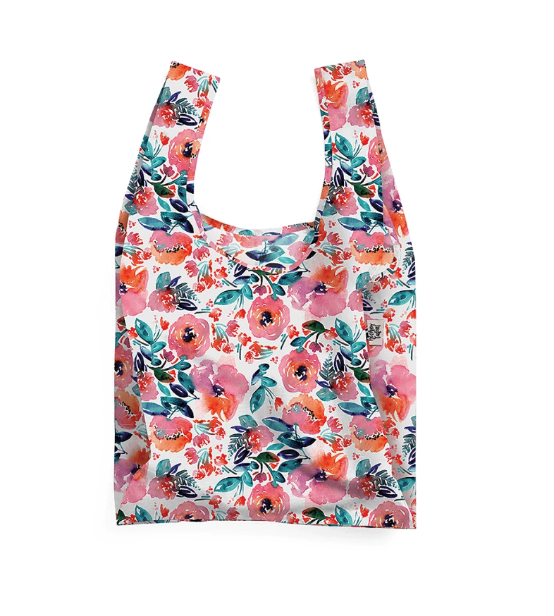 THE SOMEWHERE CO. - Candy Florals Reusable Shopping Bag