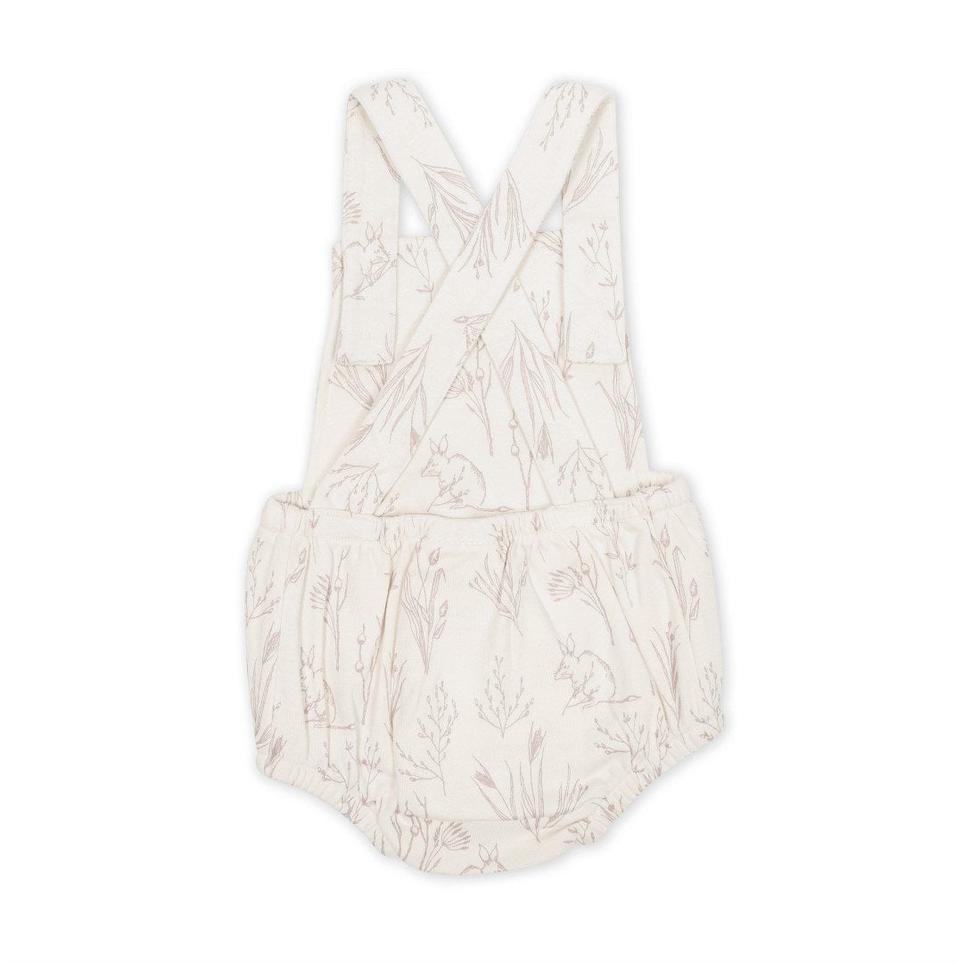 ASTER & OAK - Bilby Cross Back Playsuit Eggnog
