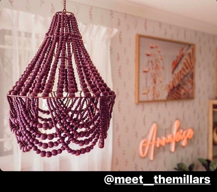 ELOK INTERIORS - MINI | Beaded Chandelier Light PRESALE SEPTEMBER