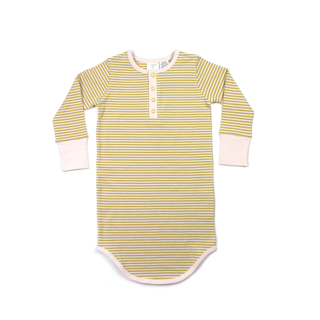 THE REST -  Winter Nightie | Mustard/Blush Stripe