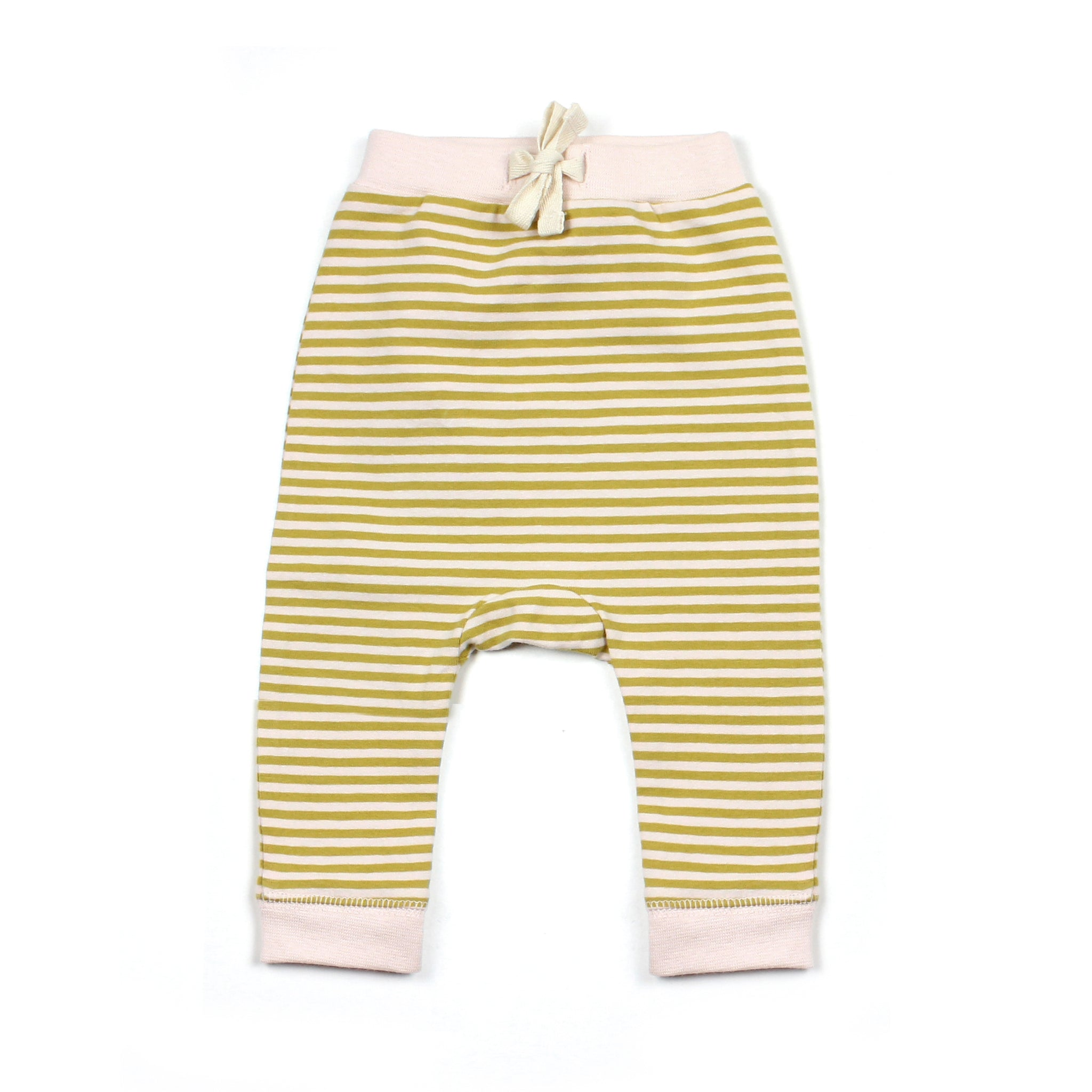 THE REST - Drawstring Pant | Mustard/Blush Stripe