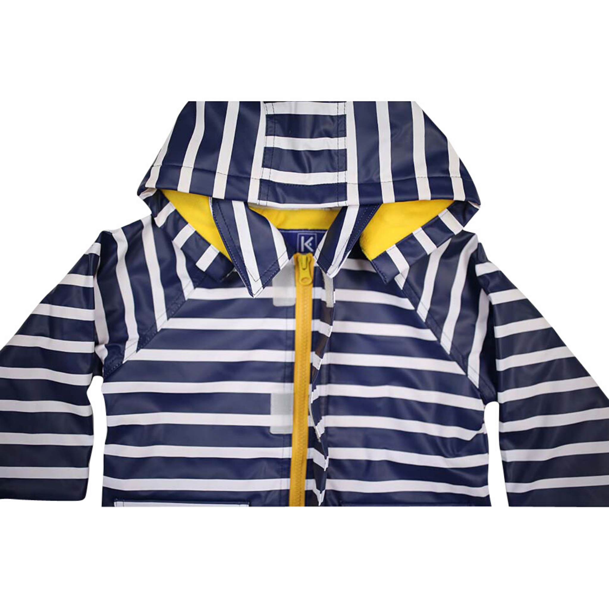 KORANGO - Blue | Striped Raincoat