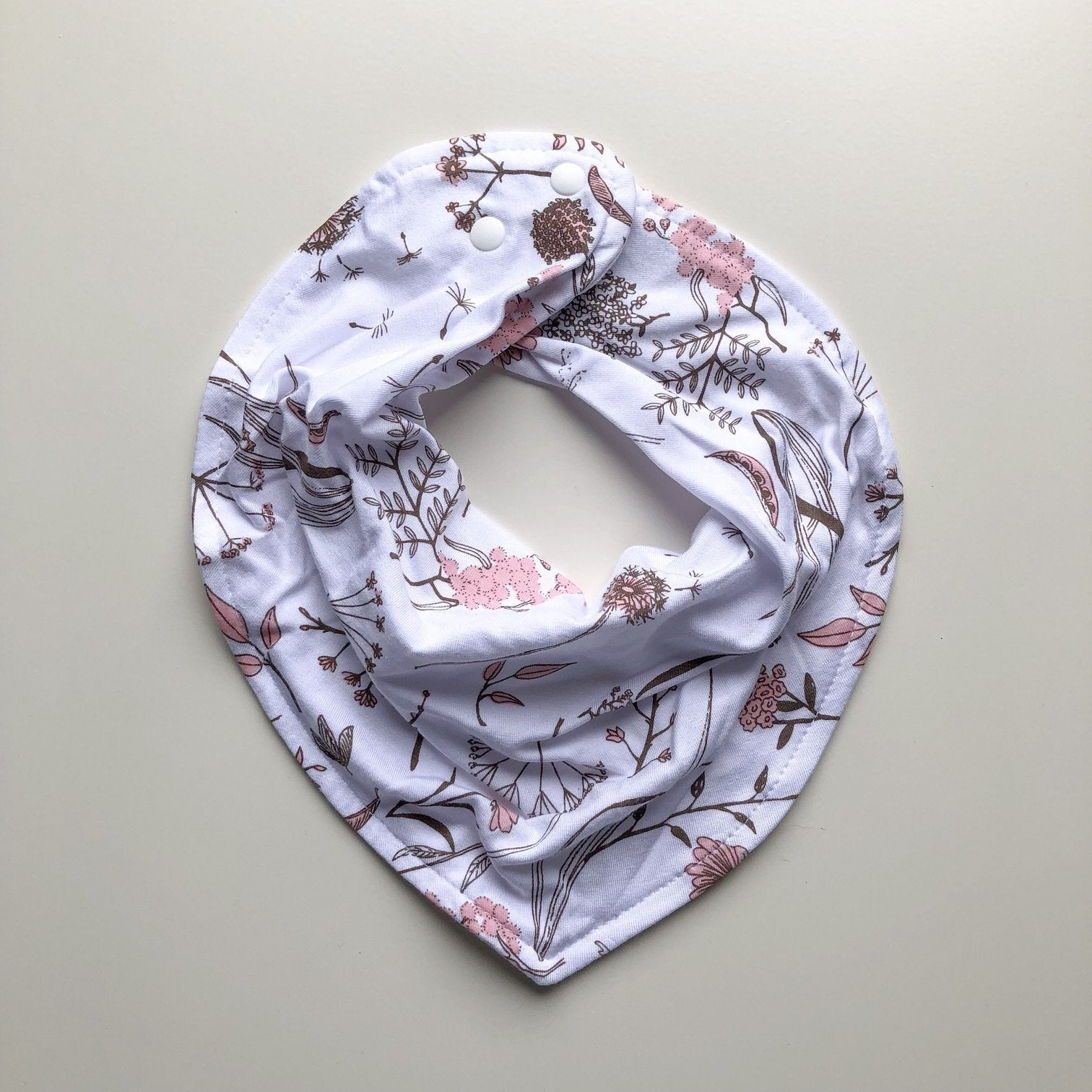 LUNA'S TREASURES - Wild Meadow Pink Petals Dribble Bib