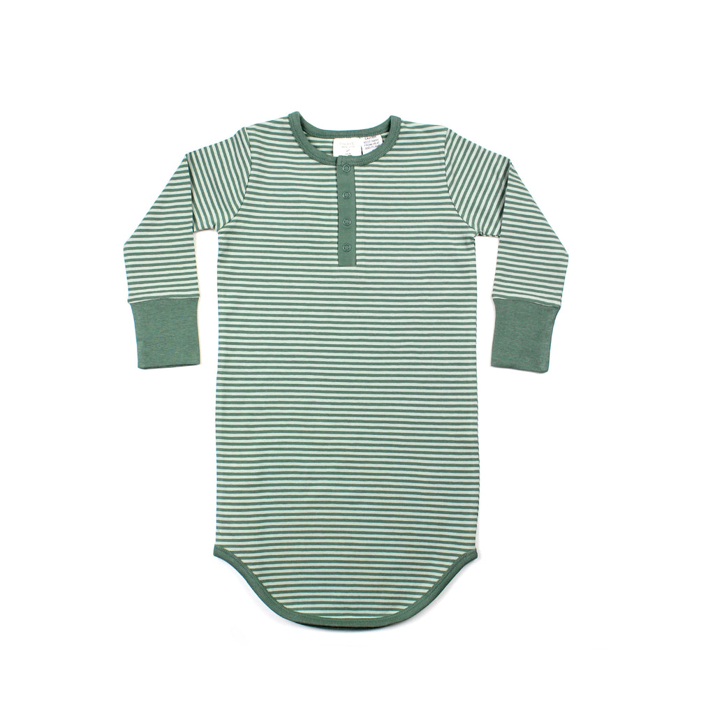 THE REST -  Winter Nightie | Seafoam Stripe