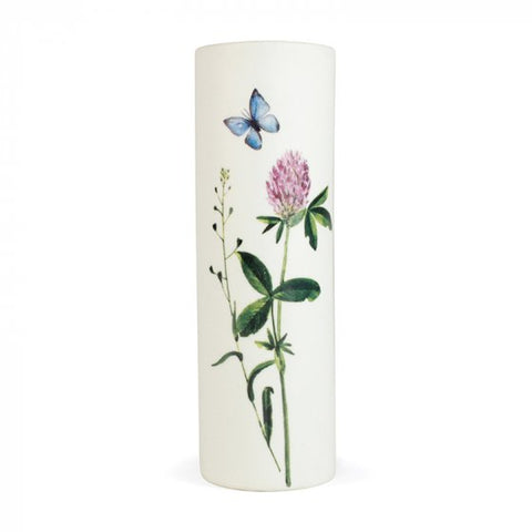White Porcelain Vase - Wild Flowers