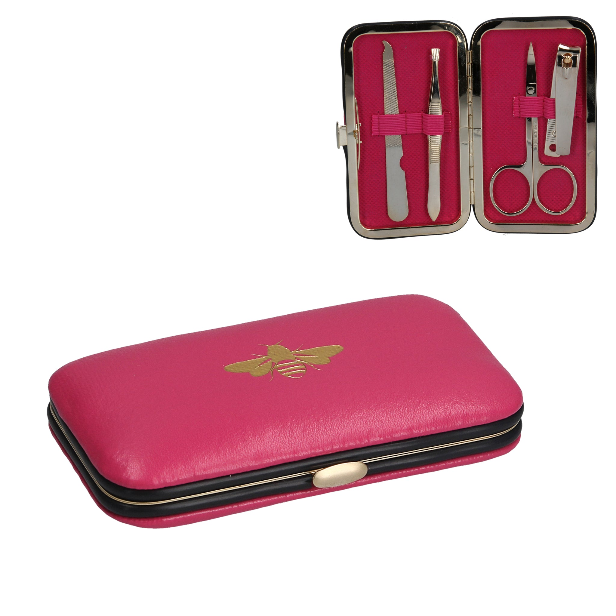 Pink Gold Bee Manicure Set