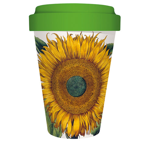 Reusable Bamboo Travel Mug - Matthew Williamson Sunflower