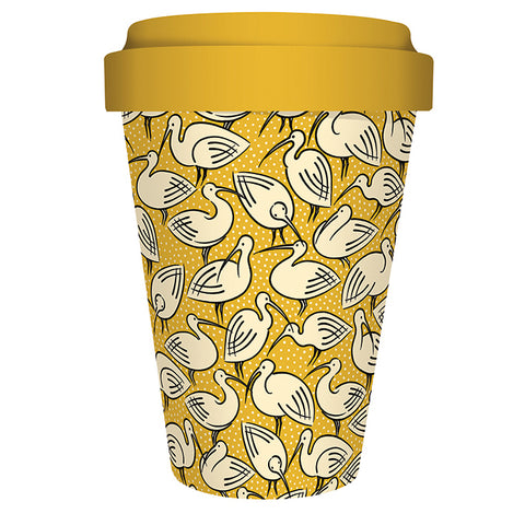 Reusable Bamboo Travel Mug - Cressida Bell Ibis