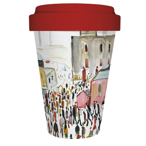 Reusable Bamboo Travel Mug - Lowry Going To Work