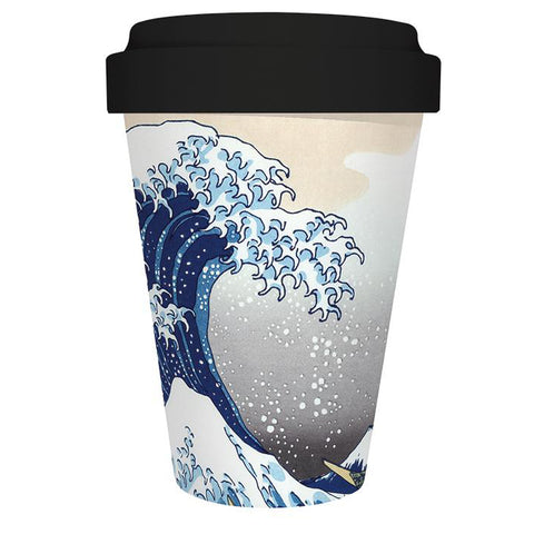 Reusable Bamboo Travel Mug - The Great Wave