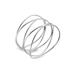 Solid Silver Organic Looped Bangle