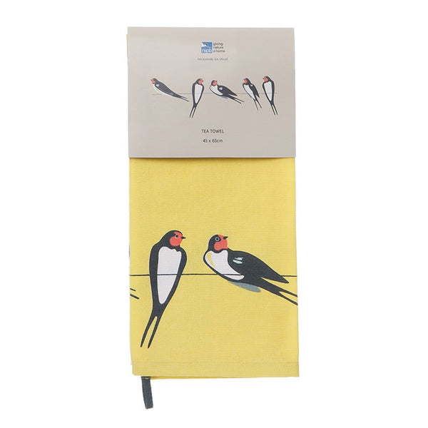 RSPB Tea Towel - Swallows