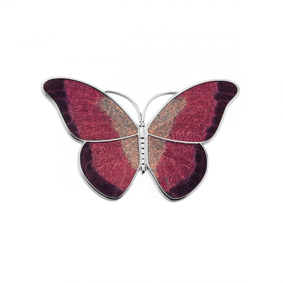 Butterfly Broach - Red