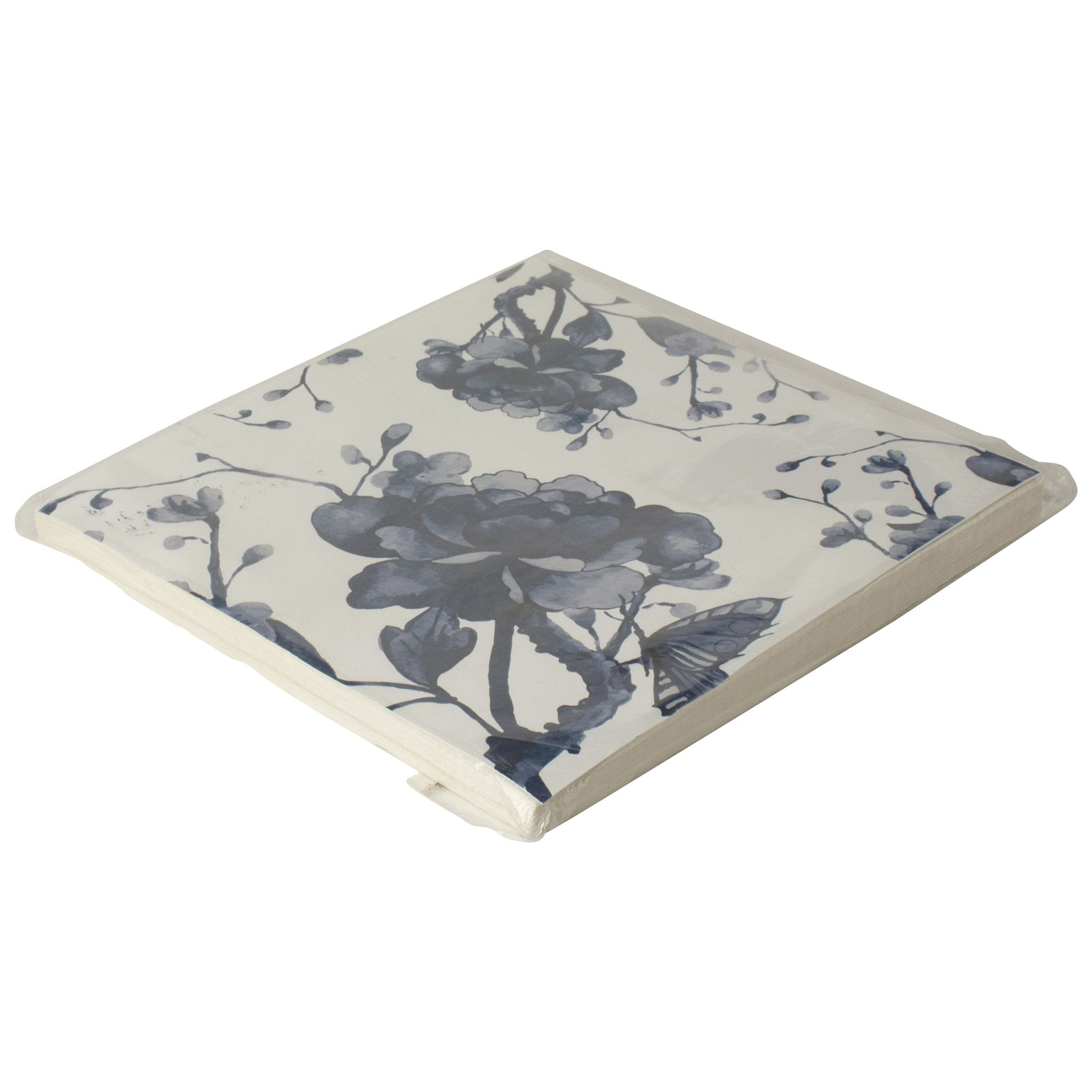 Paper Napkins - Blue and White Peony