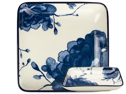Blue and White Square Dish
