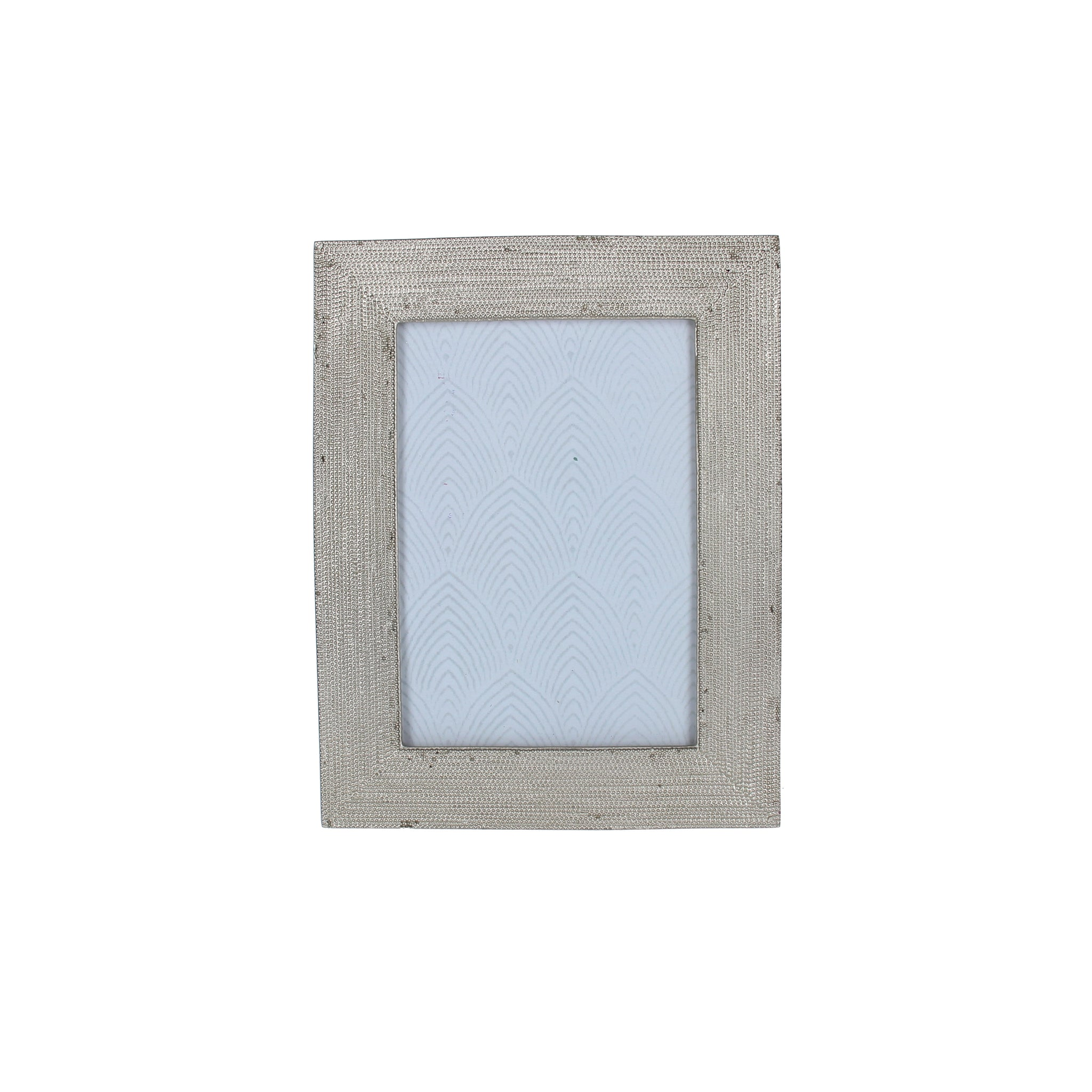 Beaded Silver Effect 2.5x3.5cm Photo Frame