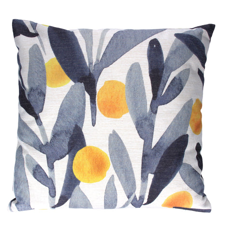 Gisela Graham Square Cushion - Abstract Lemons