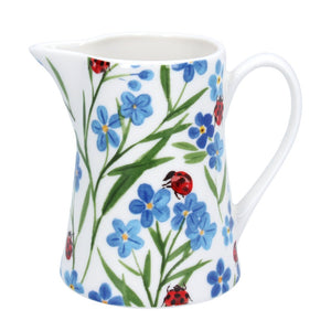 Gisela Graham Small Jug - Forget-Me-Nots & Ladybird
