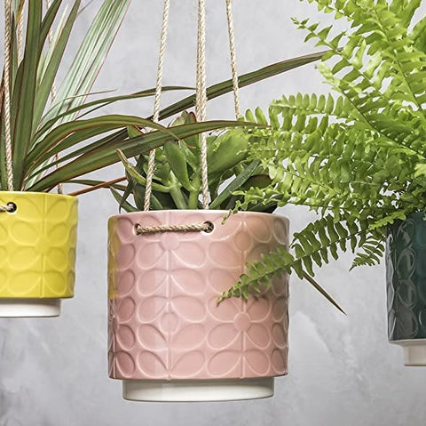 Orla Kiely Hanging House Plant Pot - Pink