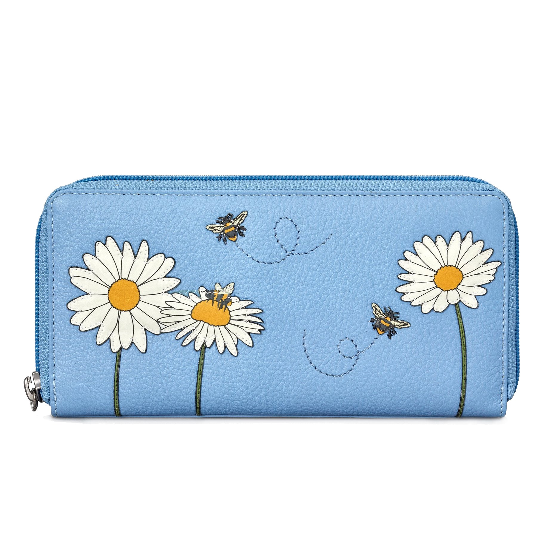 Bee Zip Around Leather Purse