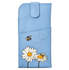 Leather Bumble Bee Glasses Case