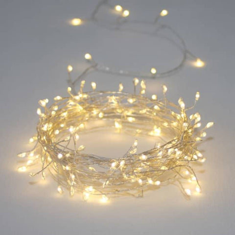 Mains Indoor / Outdoor Cluster LED Light Chain - 15m