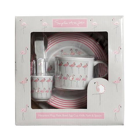 Sophie Allport Children Dining Set - Flamingoes