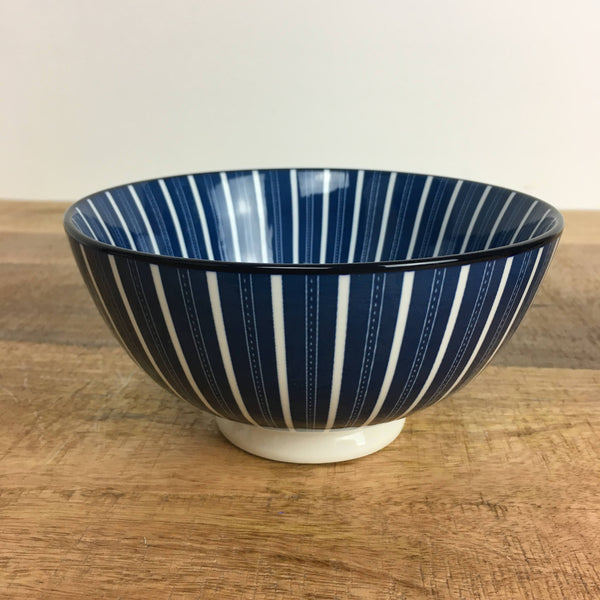 Set of 3 Blue and White Bowls Medium