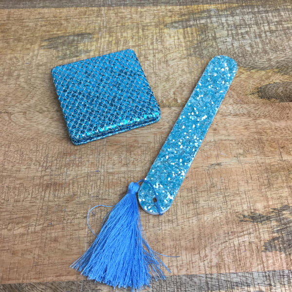 Glitter Mirror and Nail File Set