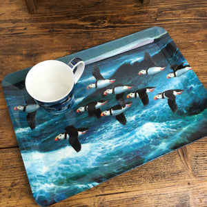 Puffins in Flight Tray