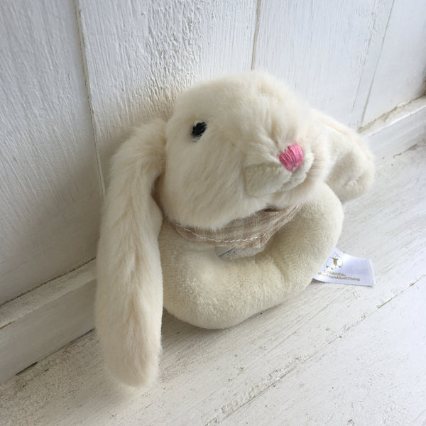 Soft Toy Rattle - Bunny White
