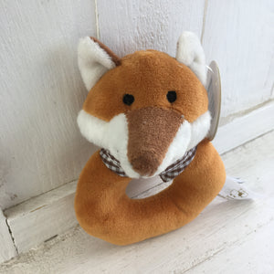 Soft Toy Rattle - Fox
