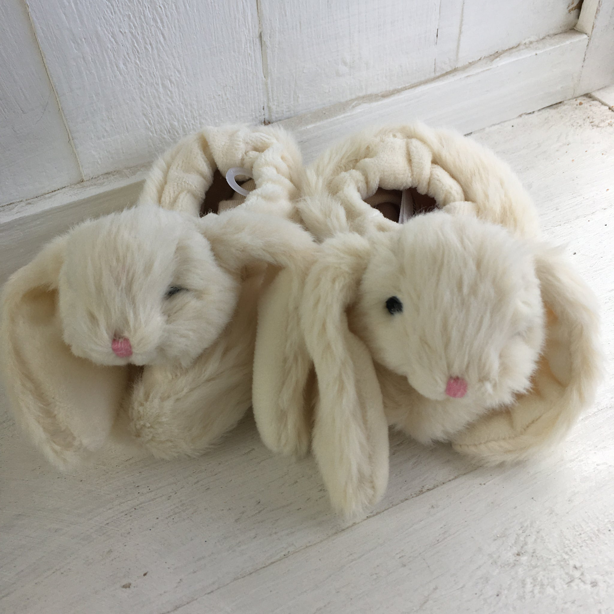 Soft Toy Slippers - Cream Bunny