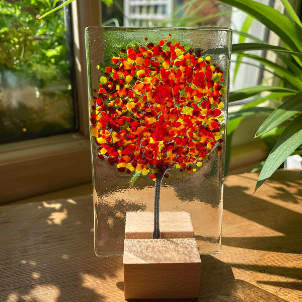 Handmade Fused Glass Trees - Autumn
