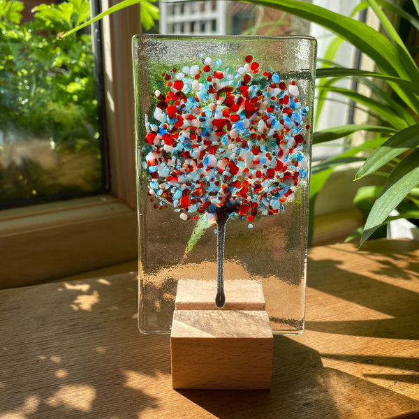 Handmade Fused Glass Trees - Spring