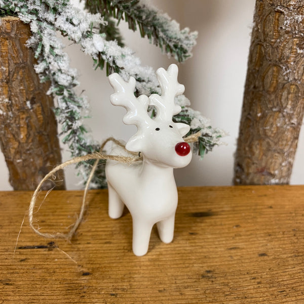 Hanging Decoration - White Reindeer