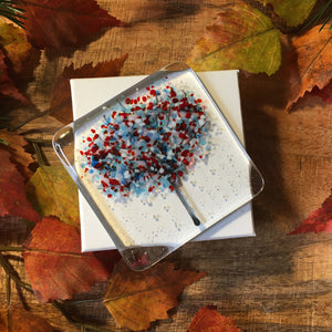 Handmade Fused Glass Coaster - Summer