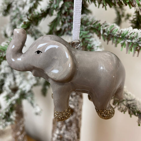 Ceramic Elephant Tree Decoration