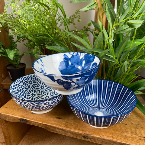 Blue and White Bowls Small