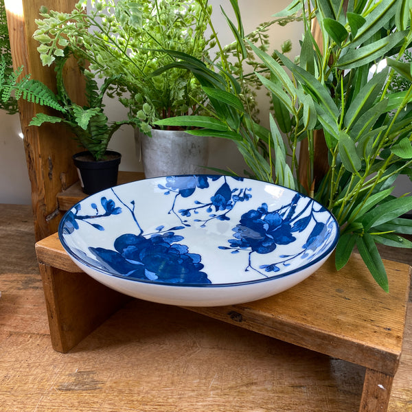 Blue and White Bowls Shallow Dish